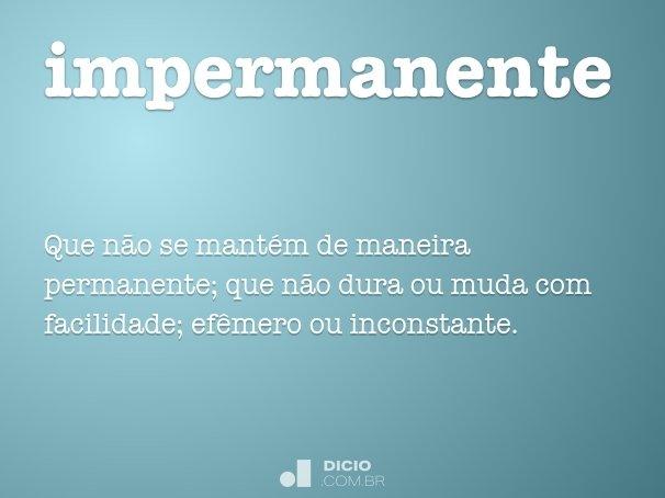 impermanente