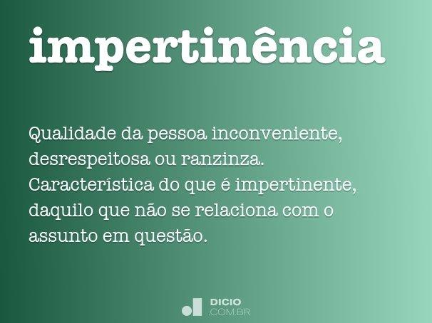 impertin�ncia