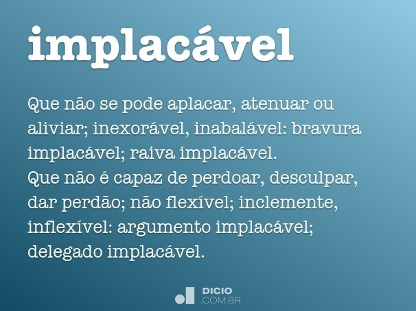 implac�vel