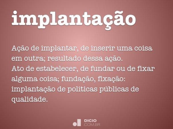 implanta��o