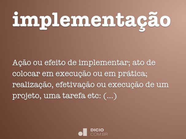 implementa��o