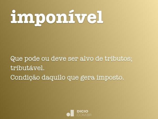 impon�vel