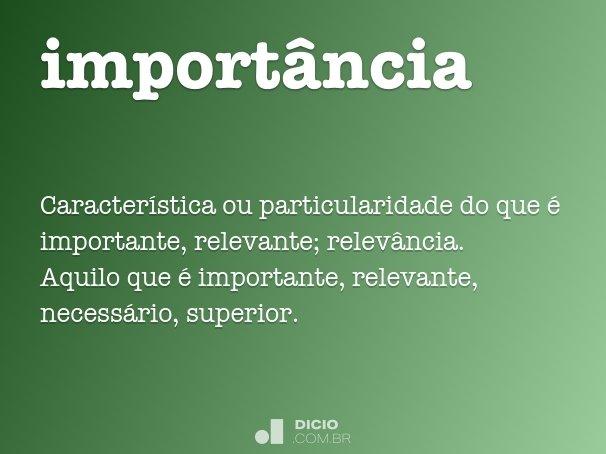 import�ncia