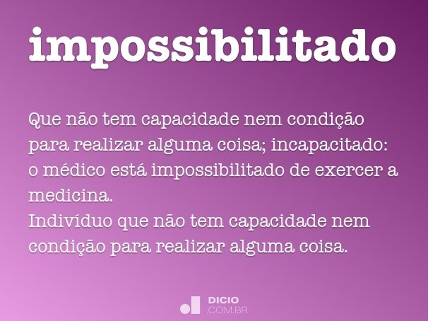impossibilitado