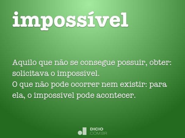 imposs�vel