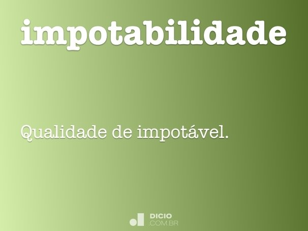 impotabilidade