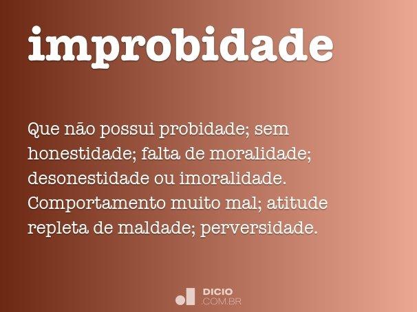 improbidade