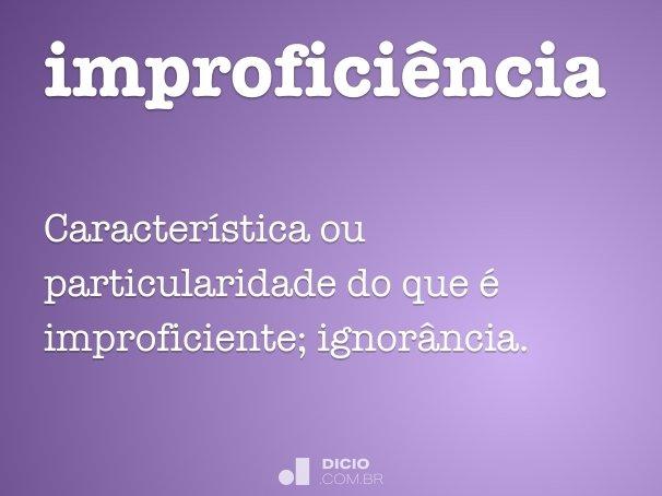 improficiência