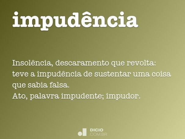 impudência