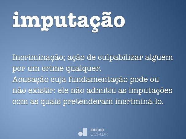 imputa��o