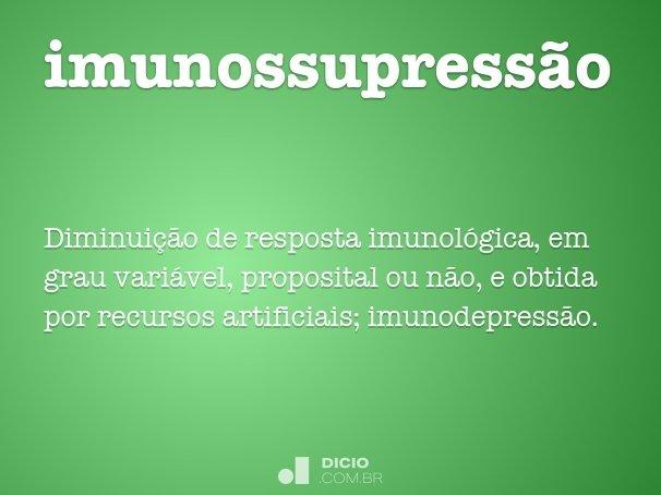 imunossupress�o