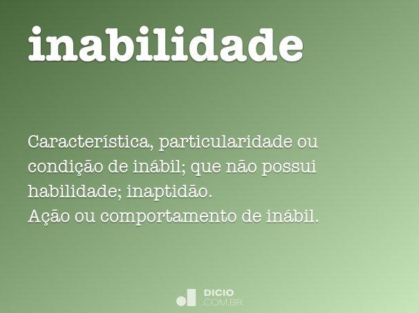 inabilidade