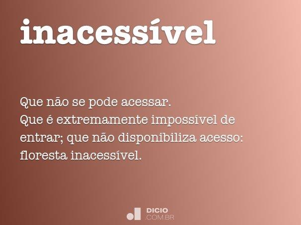 inacess�vel