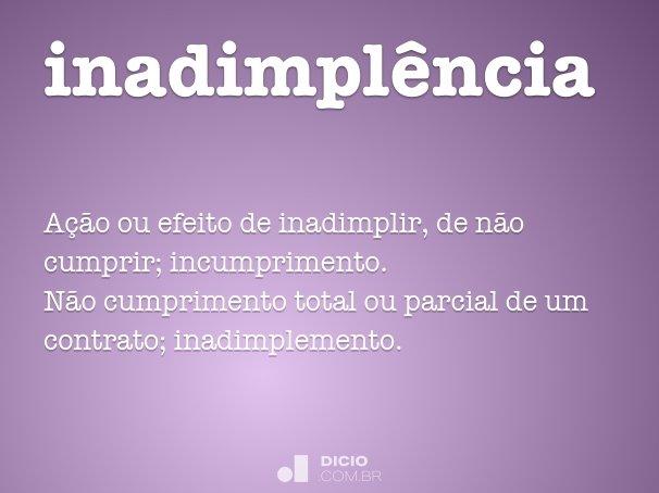 inadimplência