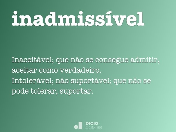 inadmiss�vel