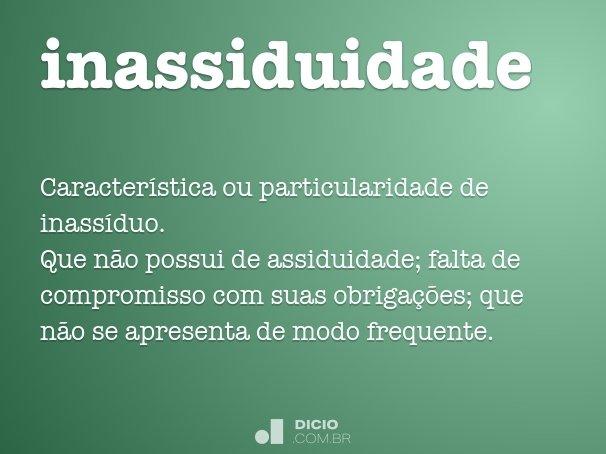 inassiduidade