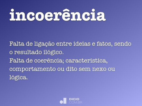 incoer�ncia