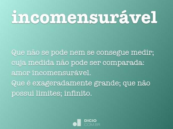 incomensur�vel