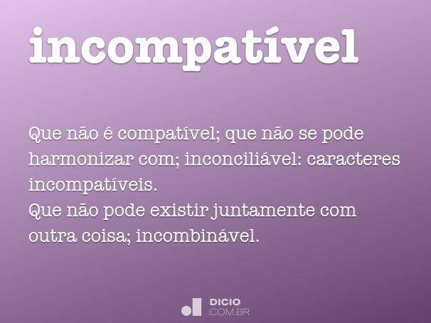incompat�vel