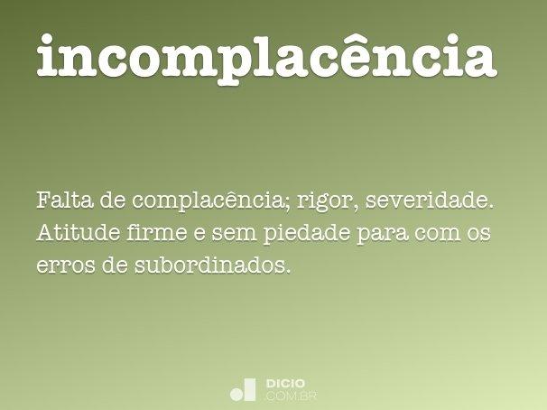 incomplacência