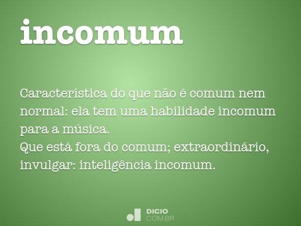 incomum