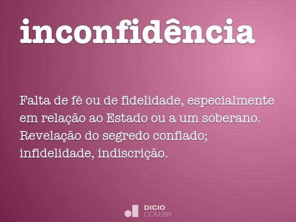 inconfid�ncia