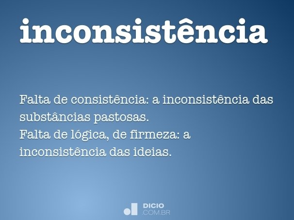 inconsist�ncia