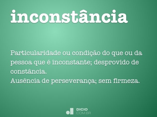 inconst�ncia