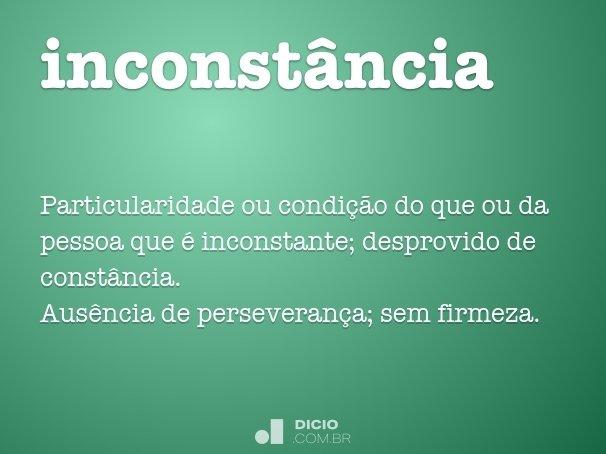 inconst�ncia