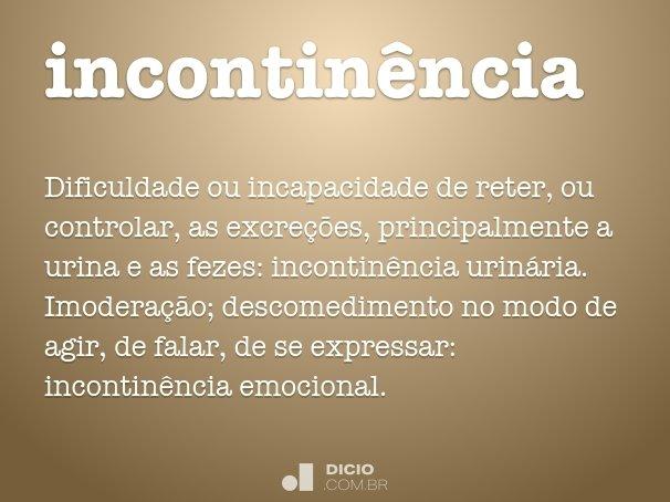 incontinência