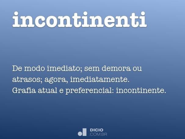 incontinenti