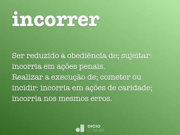 incorrer