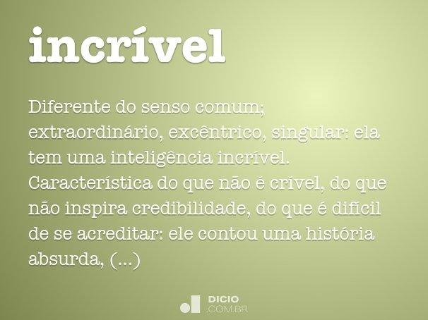 incr�vel