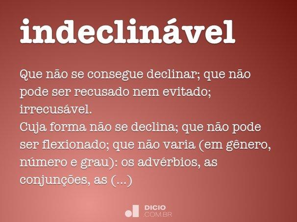 indeclin�vel