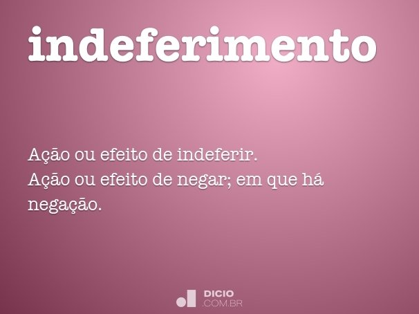 indeferimento
