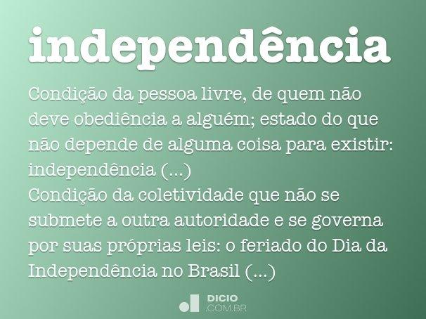 independ�ncia