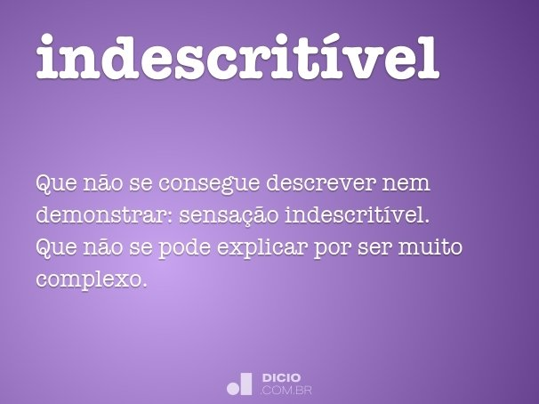 indescrit�vel