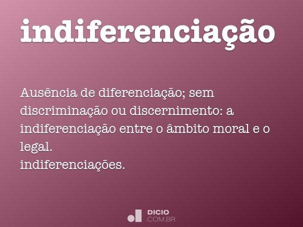 indiferenciação