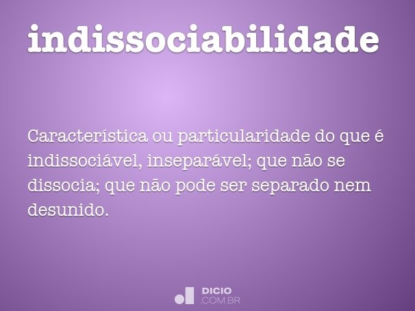 indissociabilidade