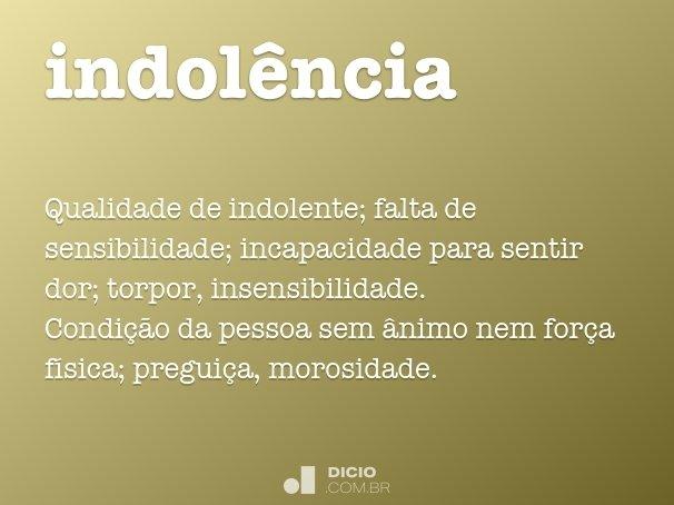 indol�ncia