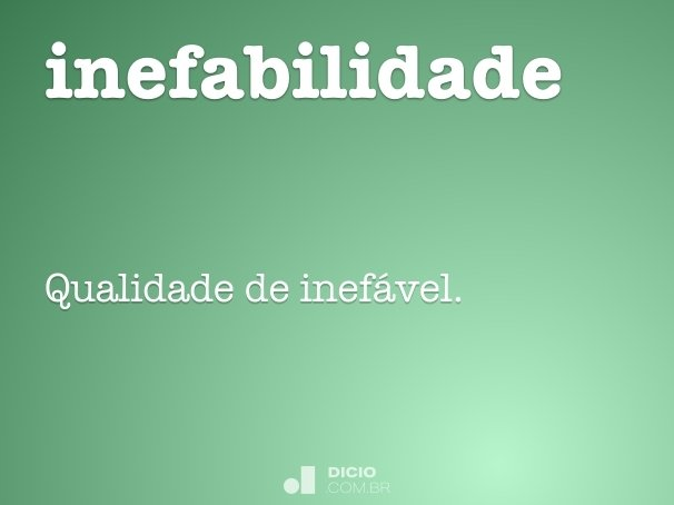 inefabilidade