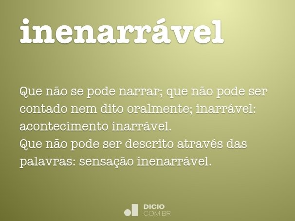 inenarr�vel
