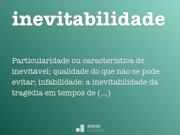 inevitabilidade
