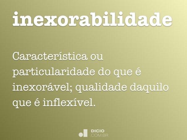 inexorabilidade