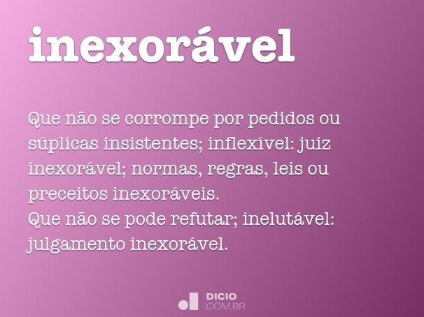 inexor�vel