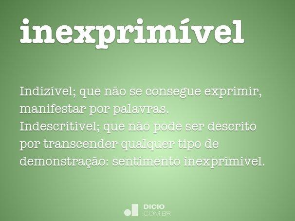inexprim�vel
