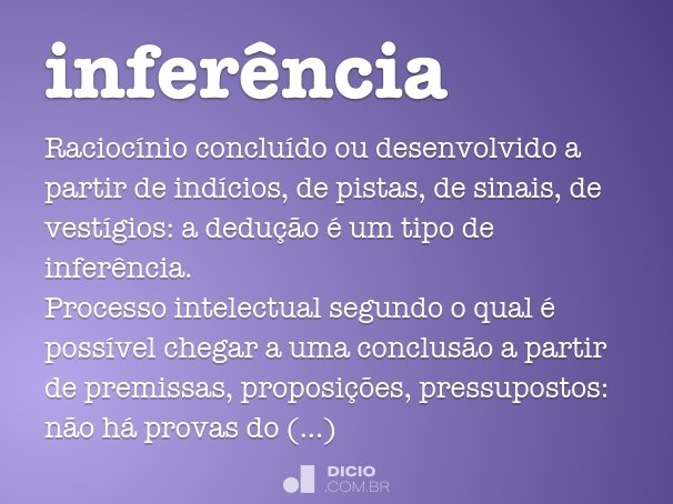 infer�ncia
