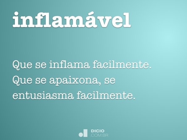 inflam�vel