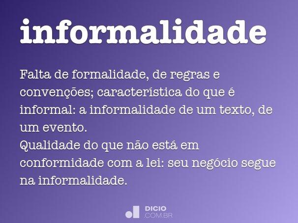 informalidade