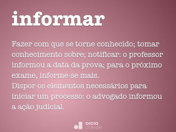 informar
